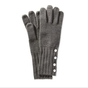 MICHAEL Michael Kors Ribbed-Cuff Knit Gloves